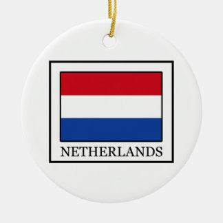 Ornement Rond En Céramique Pays-Bas