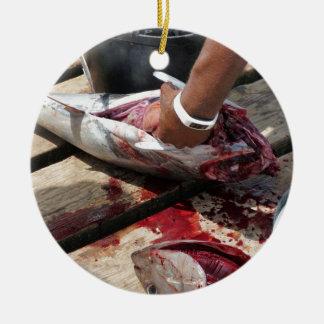 Ornement Rond En Céramique pêche sportive