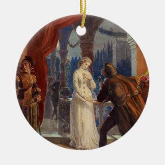 Ornement Rond En Céramique Peinture vintage de Romeo et de Juliet (1861)