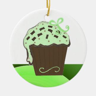 Ornement Rond En Céramique Petit gâteau en bon état de chocolat