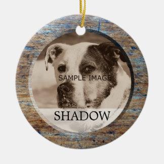 Ornement Rond En Céramique Photo commémorative   d'animal familier dans la
