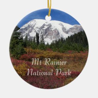 Ornement Rond En Céramique Photo de parc national de mont Rainier