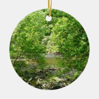 Ornement Rond En Céramique Photographie de nature du Maryland de vue de