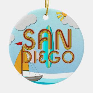 Ornement Rond En Céramique PIÈCE EN T San Diego