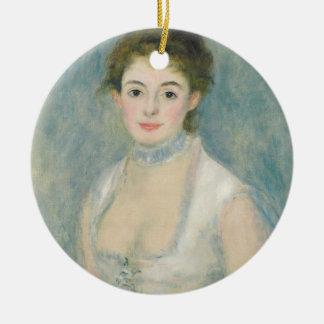 Ornement Rond En Céramique Pierre une Madame Henriot de Renoir  