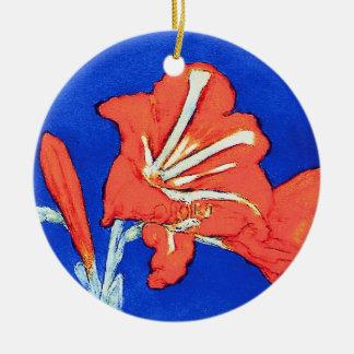 Ornement Rond En Céramique Piet Mondrian - peinture de fleur de beaux-arts