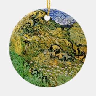 Ornement Rond En Céramique Piles de blé du champ W de Van Gogh, beaux-arts