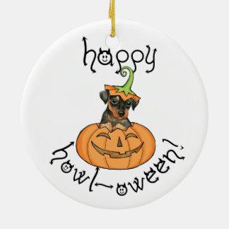 Ornement Rond En Céramique Pin de minute de Halloween