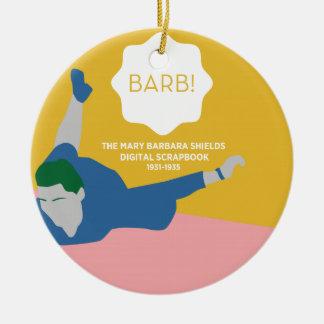 Ornement Rond En Céramique Ping-pong Barb