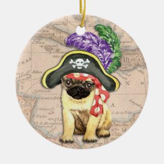 Ornement Rond En Céramique Pirate de carlin