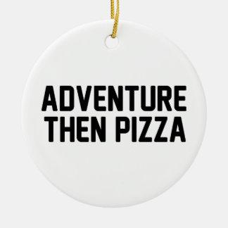 Ornement Rond En Céramique Pizza d'aventure puis