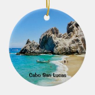 Ornement Rond En Céramique Plage d'amants, Cabo San Lucas