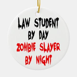 Ornement Rond En Céramique Plaisanterie de zombi d'étudiant en droit