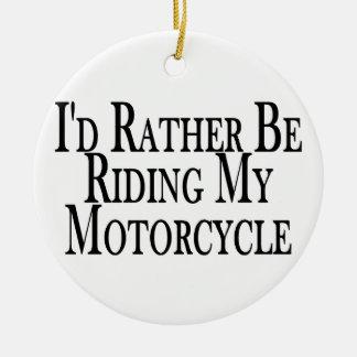 Ornement Rond En Céramique Plutôt monte ma moto