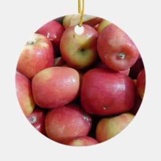 Ornement Rond En Céramique Pommes