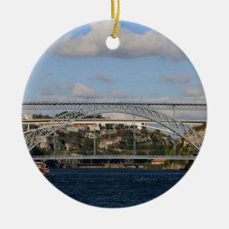 Ornement Rond En Céramique Pont des DOM Luis I, Porto, Portugal
