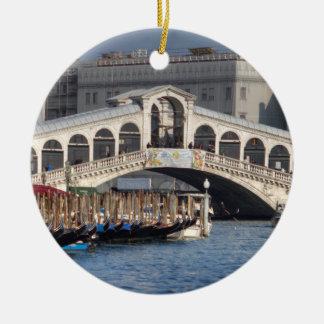 Ornement Rond En Céramique Pont Venise Italie de Rialto