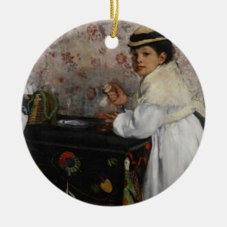 Ornement Rond En Céramique Portrait d'Edgar Degas | de Mlle. Hortense