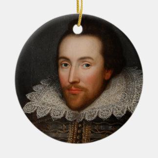 Ornement Rond En Céramique Portrait vintage de William Shakespeare