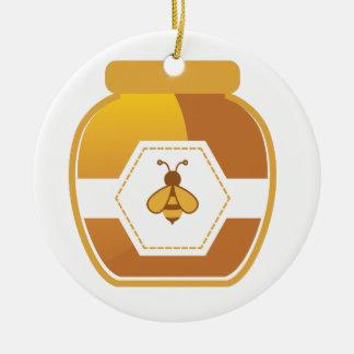 Ornement Rond En Céramique Pot de miel