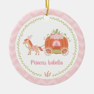 Ornement Rond En Céramique Princesse élégante Girl Ornament de chariot de