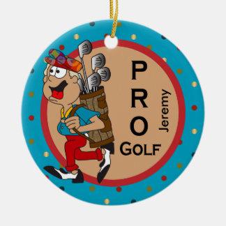 Ornement Rond En Céramique Pro texte du golf   do-it-yourself