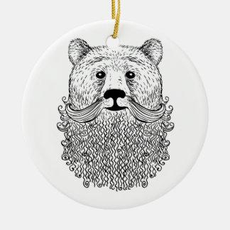 Ornement Rond En Céramique Produit barbu d'ours