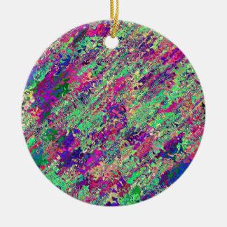 Ornement Rond En Céramique Produit de la collection éclat de couleur