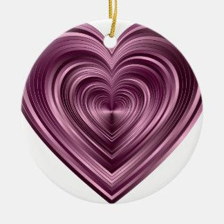 Ornement Rond En Céramique Purple Heart