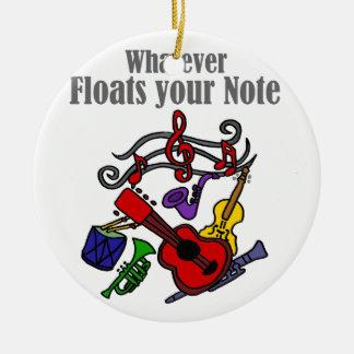 Ornement Rond En Céramique Quelque flotteurs votre conception de note