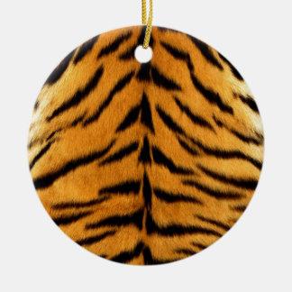 Ornement Rond En Céramique Rayures de tigre