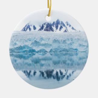 Ornement Rond En Céramique Réflexions de glacier, Norvège