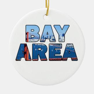 Ornement Rond En Céramique Région de Baie de San Franciso
