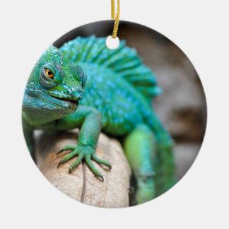 Ornement Rond En Céramique reptile