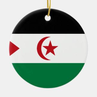 Ornement Rond En Céramique République Democratic arabe de Sahrawi