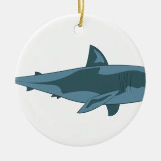 Ornement Rond En Céramique Requin