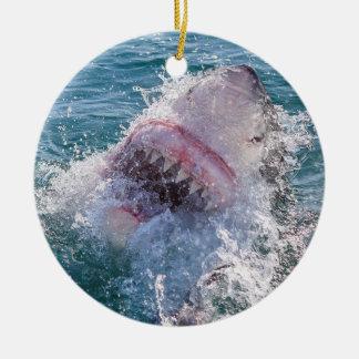 Ornement Rond En Céramique Requin dans l'eau