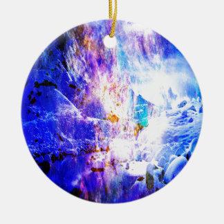 Ornement Rond En Céramique Respirez encore les rêves de nuit de Noël