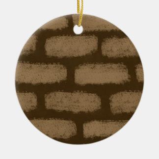 Ornement Rond En Céramique Ressemble aux briques
