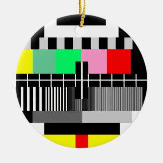 Ornement Rond En Céramique Rétro écran d'essai de la couleur TV