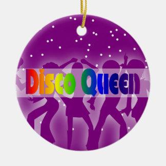 Ornement Rond En Céramique Rétros les années 70 danseuses de la Reine de