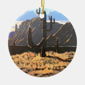Ornement Rond En Céramique Rêves de montagne de superstition