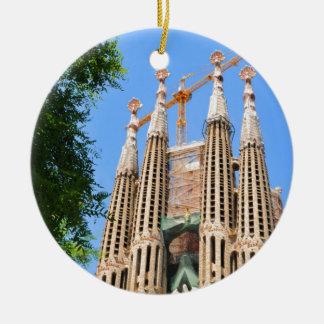 Ornement Rond En Céramique Sagrada Familia à Barcelone, Espagne