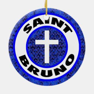 Ornement Rond En Céramique Saint Bruno