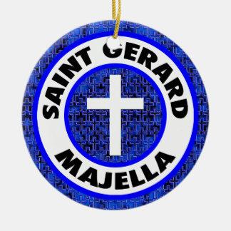 Ornement Rond En Céramique Saint Gerard Majella