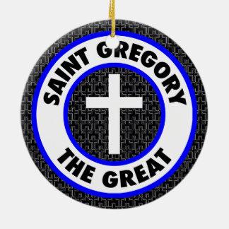 Ornement Rond En Céramique Saint Gregory le grand