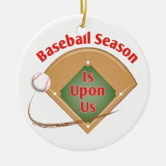 Ornement Rond En Céramique Saison de base-ball