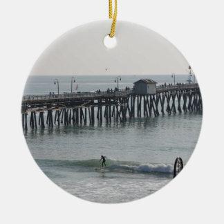 Ornement Rond En Céramique San Clemente la Californie