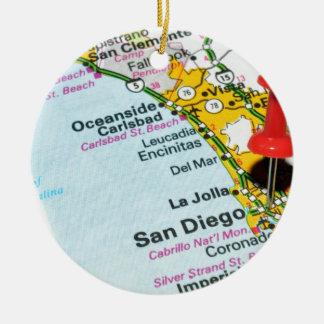 Ornement Rond En Céramique San Diego, la Californie