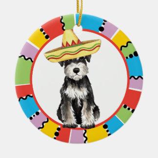 Ornement Rond En Céramique Schnauzer miniature de fiesta
